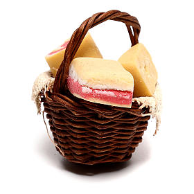 Basket with bacon for Neapolitan Nativity scene of 12 cm s3