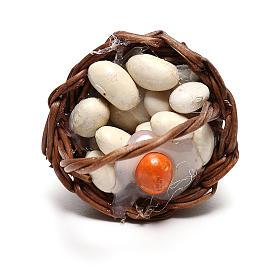 Basket with eggs for Neapolitan Nativity scene of 12 cm s2