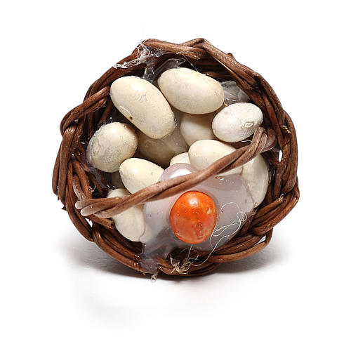 Cesta con huevos para belén napolitano de 12 cm 2