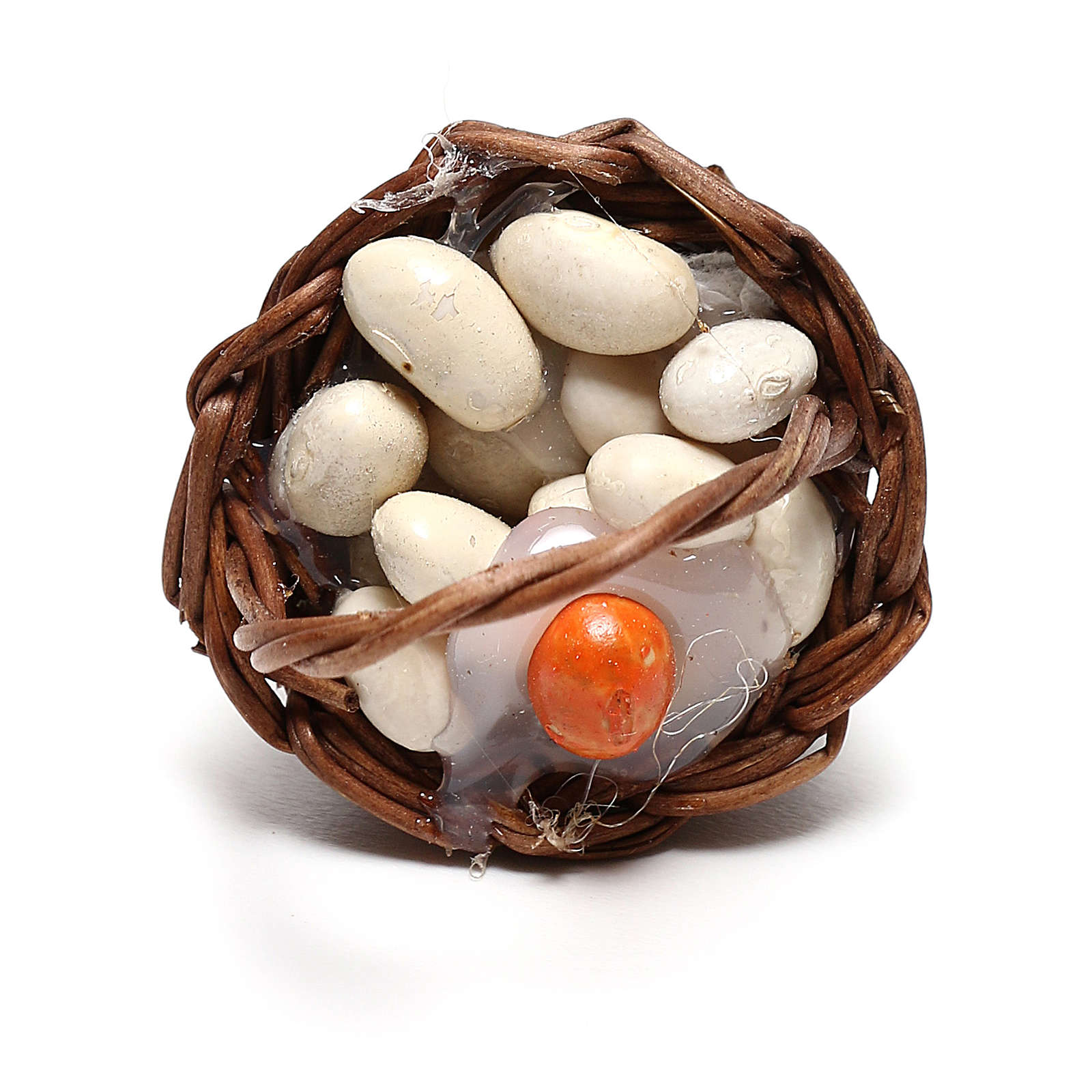 Miniature egg basket, for 12 cm Neapolitan nativity 4