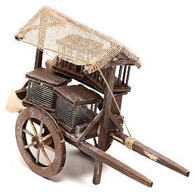 Carro vendedor de jaulas 10x5x15 cm belén napolitano 14 cm s2