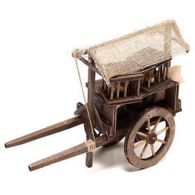 Carro vendedor de jaulas 10x5x15 cm belén napolitano 14 cm s3