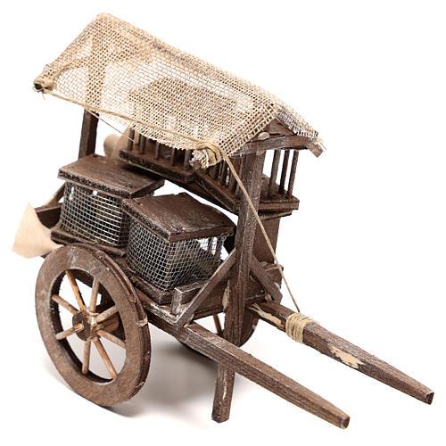 Carro vendedor de jaulas 10x5x15 cm belén napolitano 14 cm 2