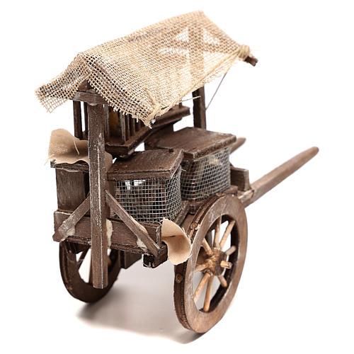 Carro vendedor de jaulas 10x5x15 cm belén napolitano 14 cm 4
