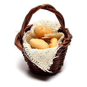 Cesta con pan para belén napolitano de 12 cm s1