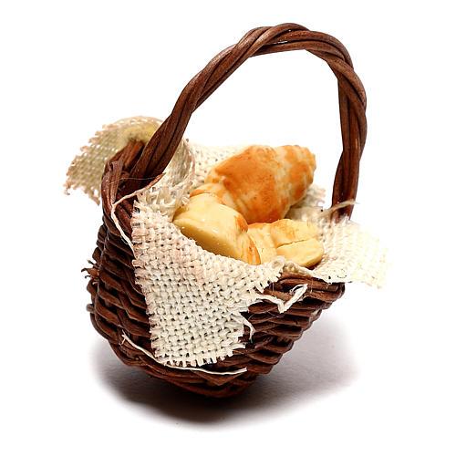 Panier avec croissants pour crèche napolitaine de 12 cm 3