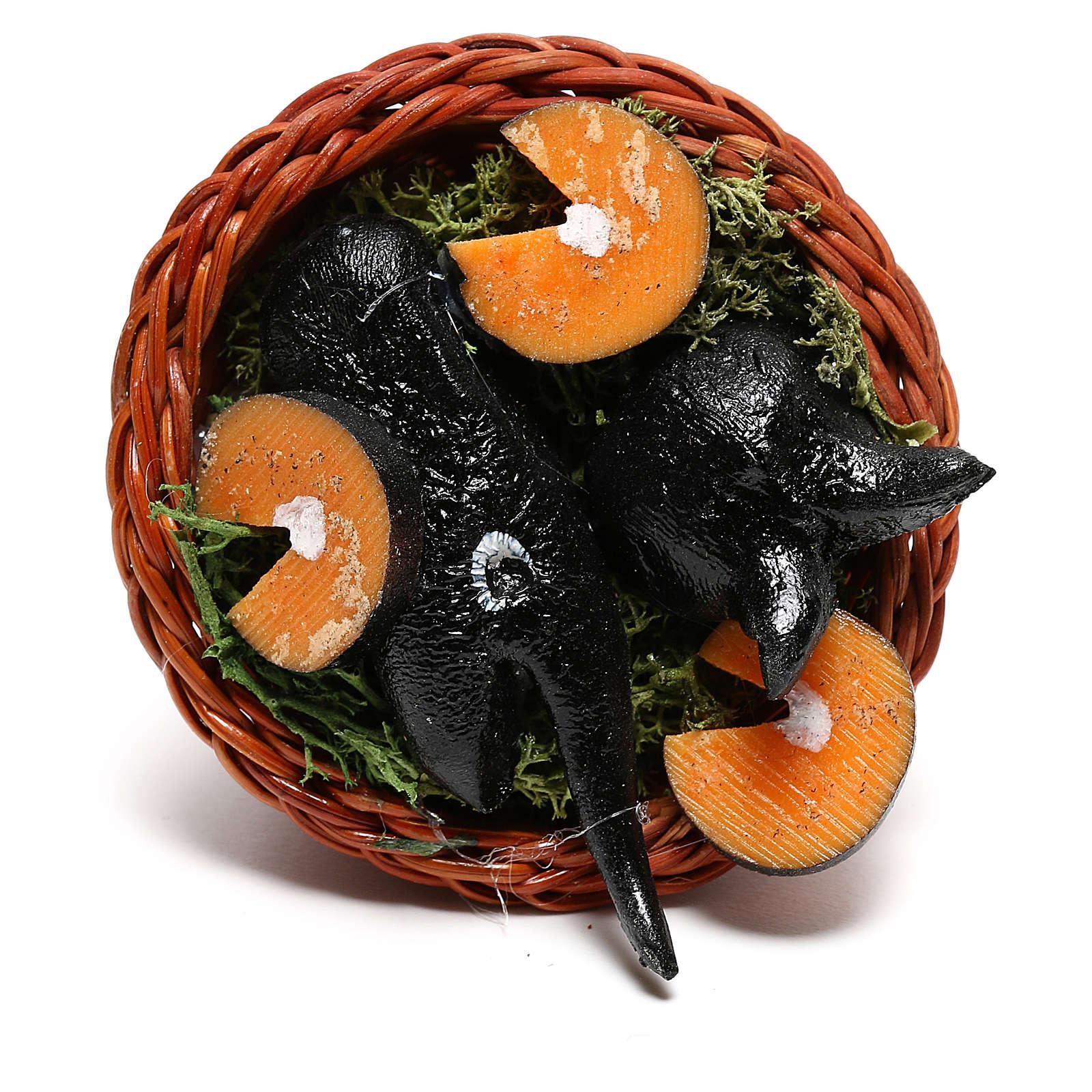 Panier rond avec poisson pour crèche napolitaine de 24 cm 4