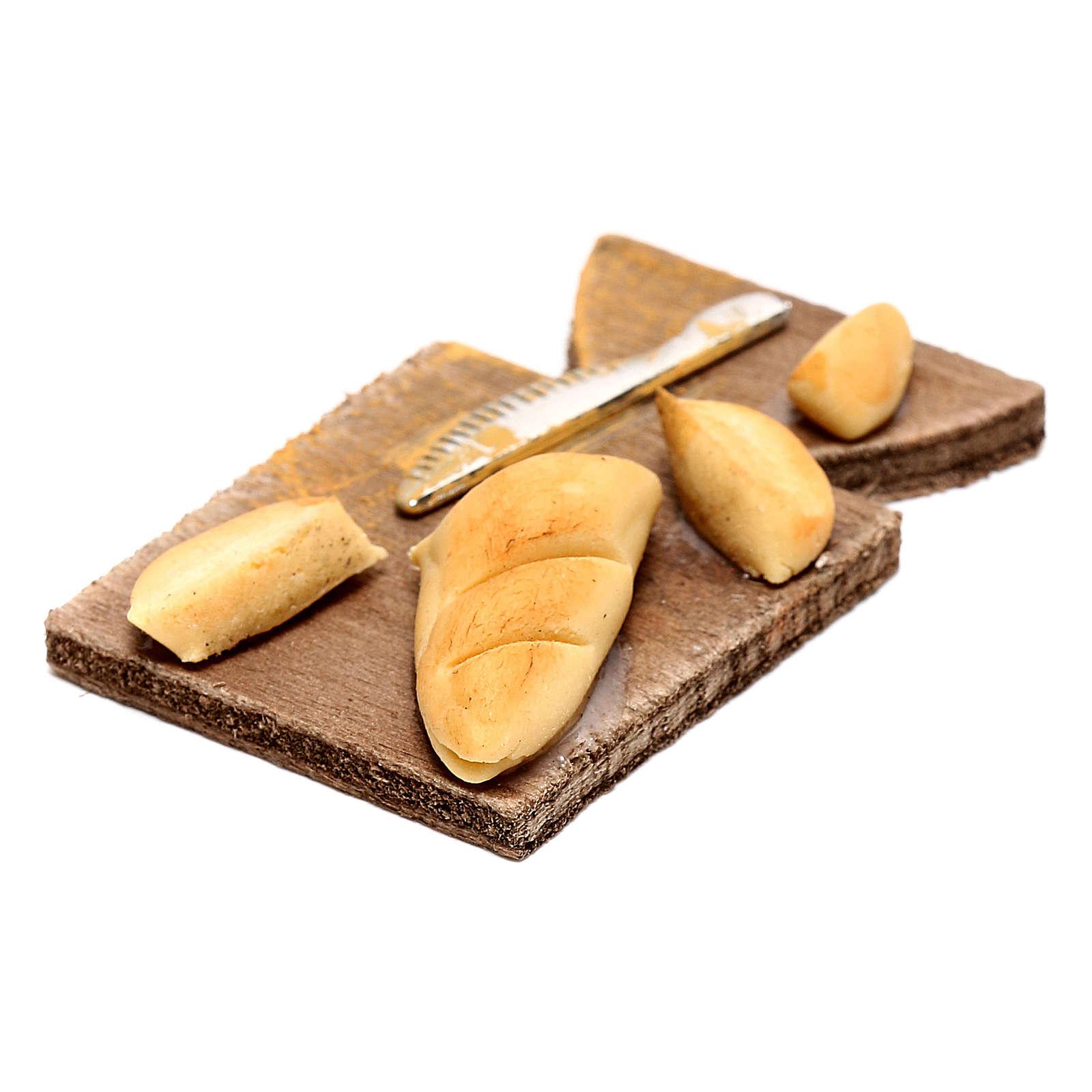 Tagliere con pane per presepe napoletano di 24 cm 4