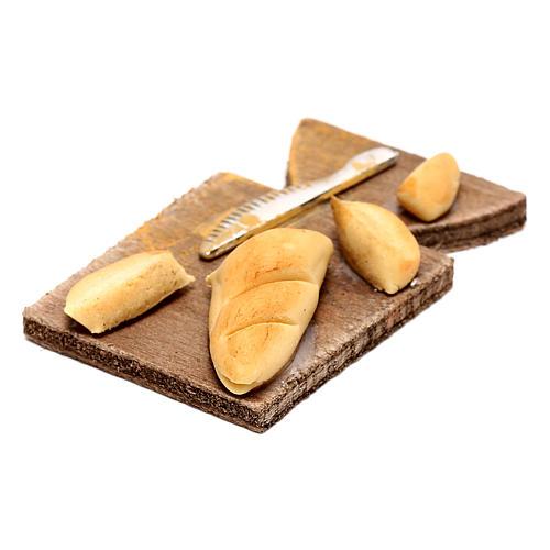 Tagliere con pane per presepe napoletano di 24 cm 2