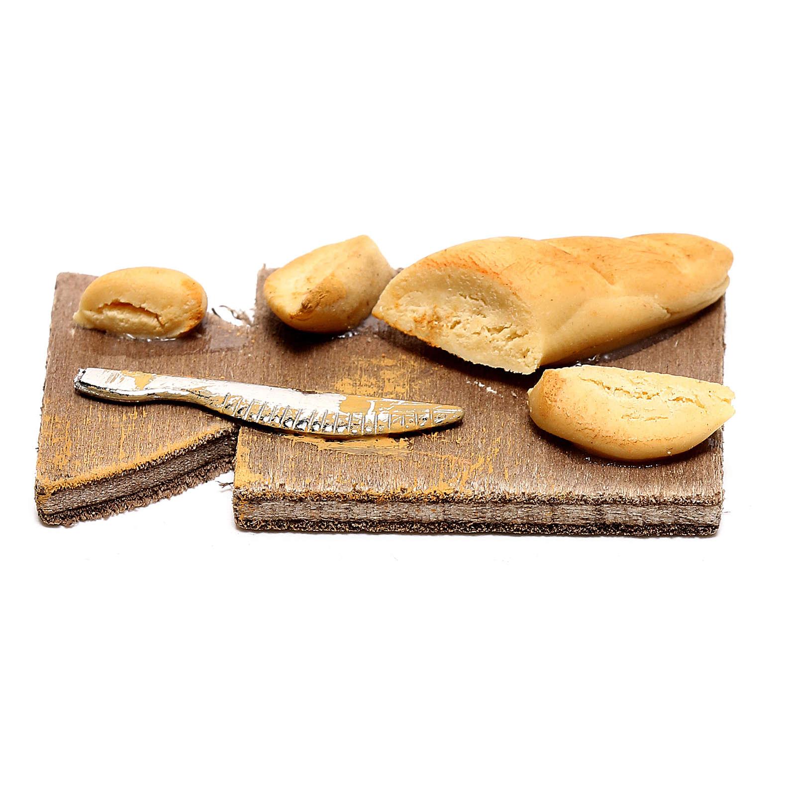 Mini bread on cutting board, for 24 cm Neapolitan nativity 4