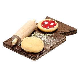 Cutting board with pizza for Neapolitan Nativity scene of 24 cm s3