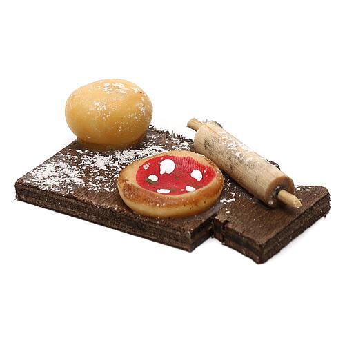 Miniature pizza on cutting board, for 24 cm Neapolitan nativity 2
