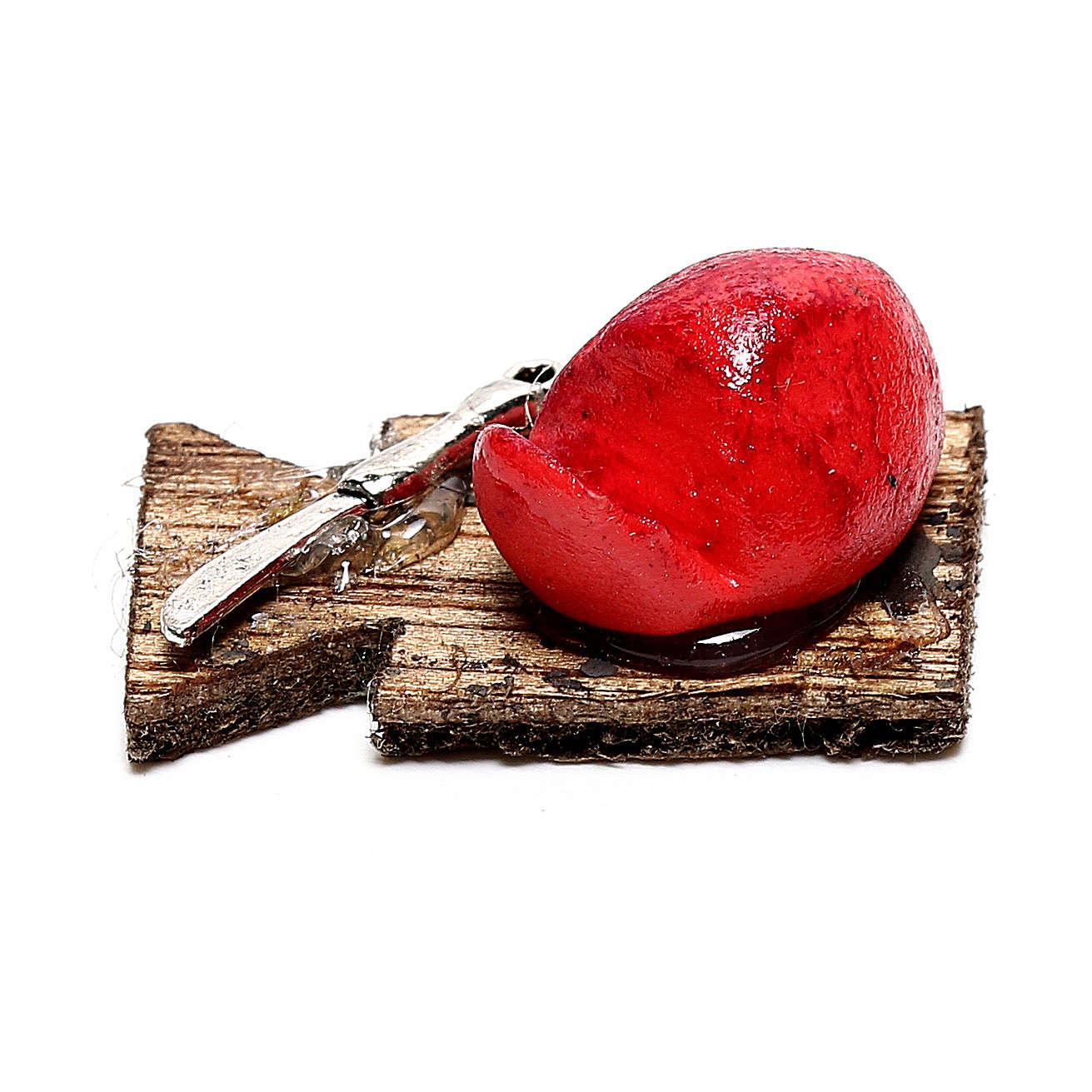 Miniature meat on cutting board, for 12 cm Neapolitan nativity 4