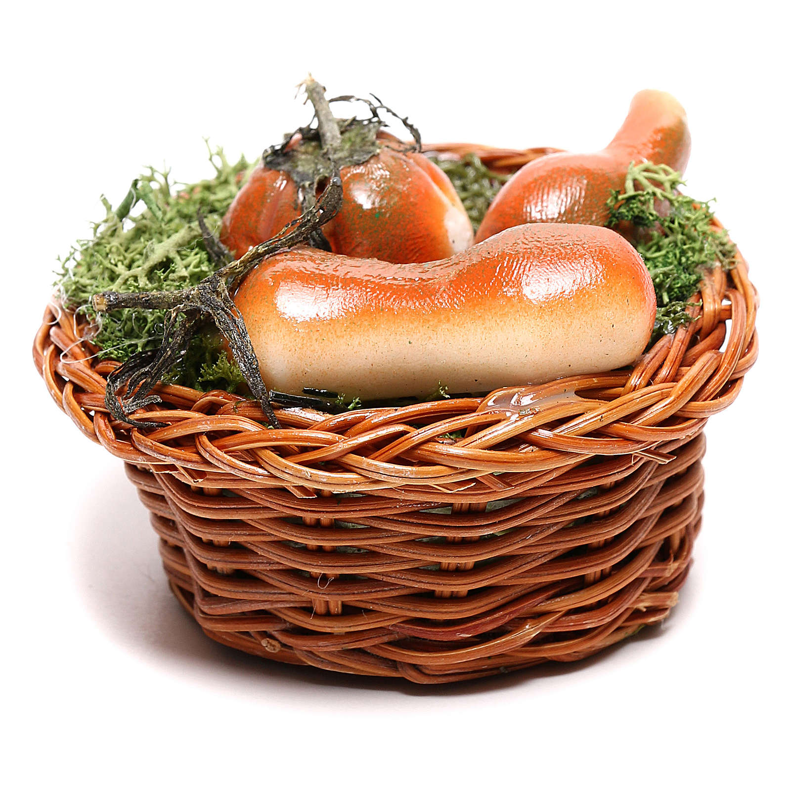 Round basket with pumpkin for Neapolitan Nativity scene of 24 cm 4