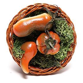 Cestino tondo con zucca per presepe napoletano di 24 cm  s2