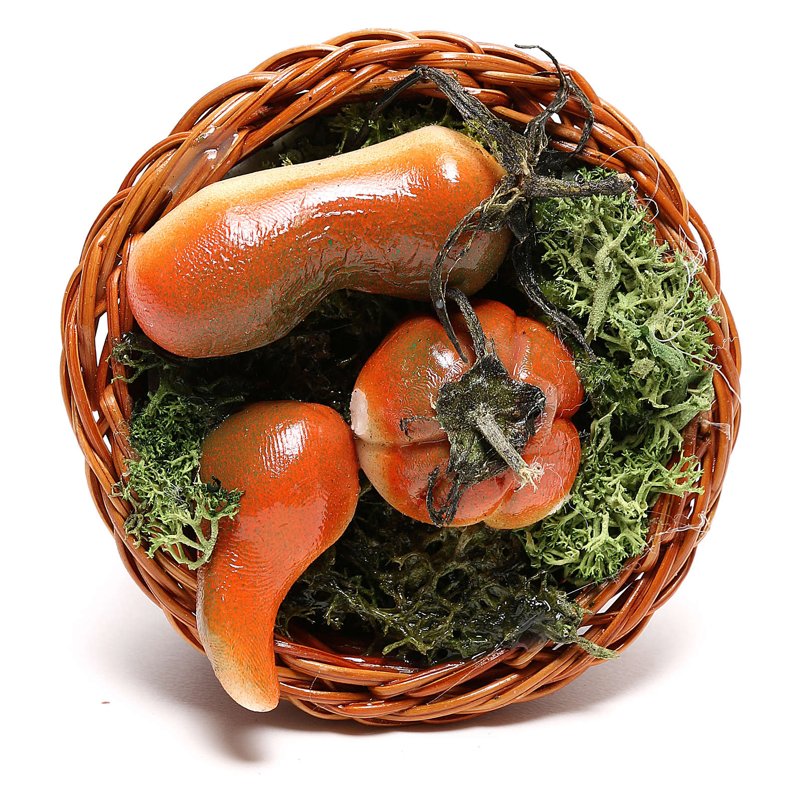 Round basket with pumpkin, for 24 cm Neapolitan nativity 4