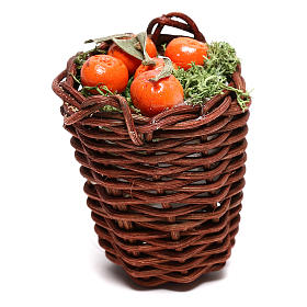 Long basket with oranges for Neapolitan Nativity scene of 24 cm s1