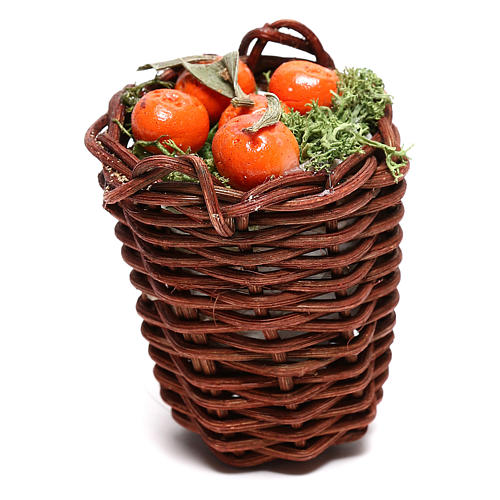 Long basket with oranges for Neapolitan Nativity scene of 24 cm 1