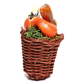 Long basket with pumpkin for Nativity scene of 24 cm s1