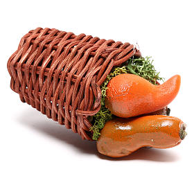 Long basket with pumpkin for Nativity scene of 24 cm s2