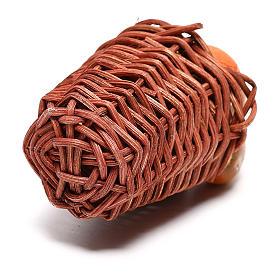 Cesta larga con calabaza para belén napolitano de 24 cm s3