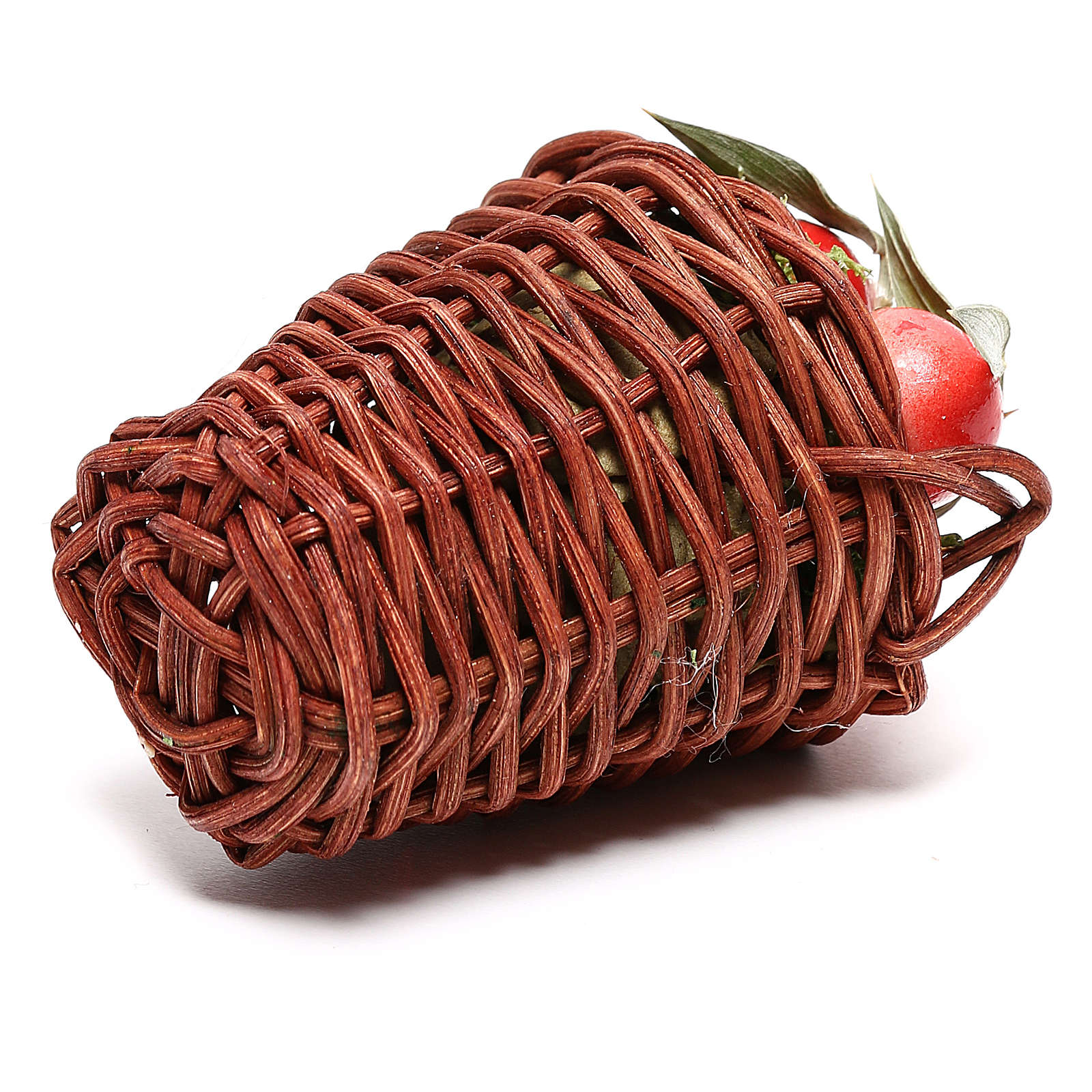 Long basket with apples for Nativity Scene of 24 cm 4