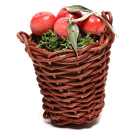 Long basket with apples for Nativity Scene of 24 cm s1