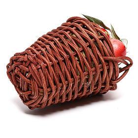 Cesto lungo con mele per presepe napoletano di 24 cm s3