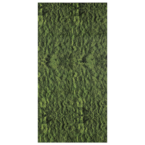 Nativity backdrop moss paper 120x60 cm 1