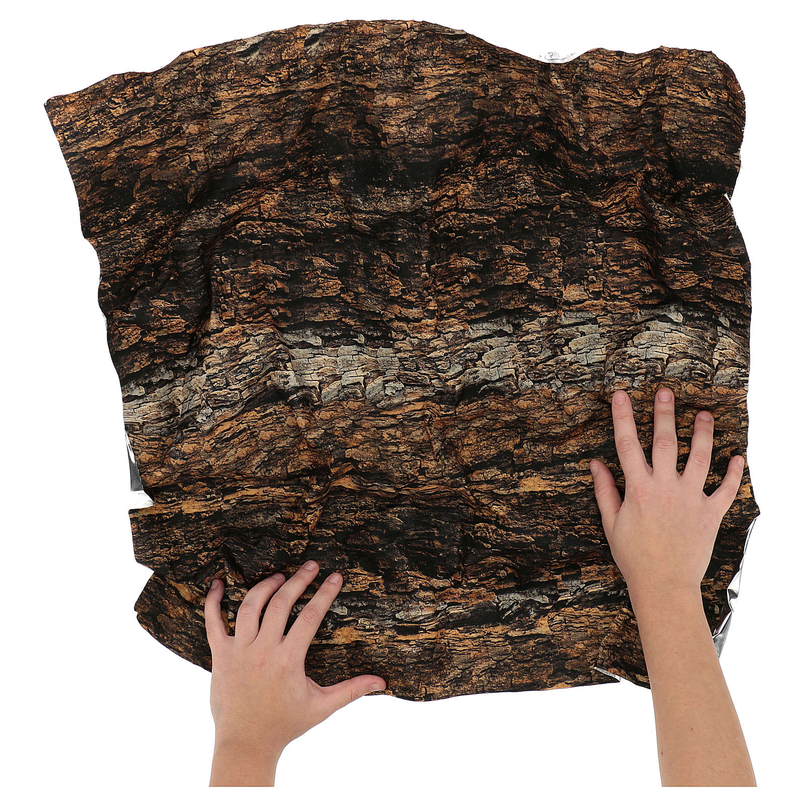 Papel modelable corcho 60x60 cm para belén 4