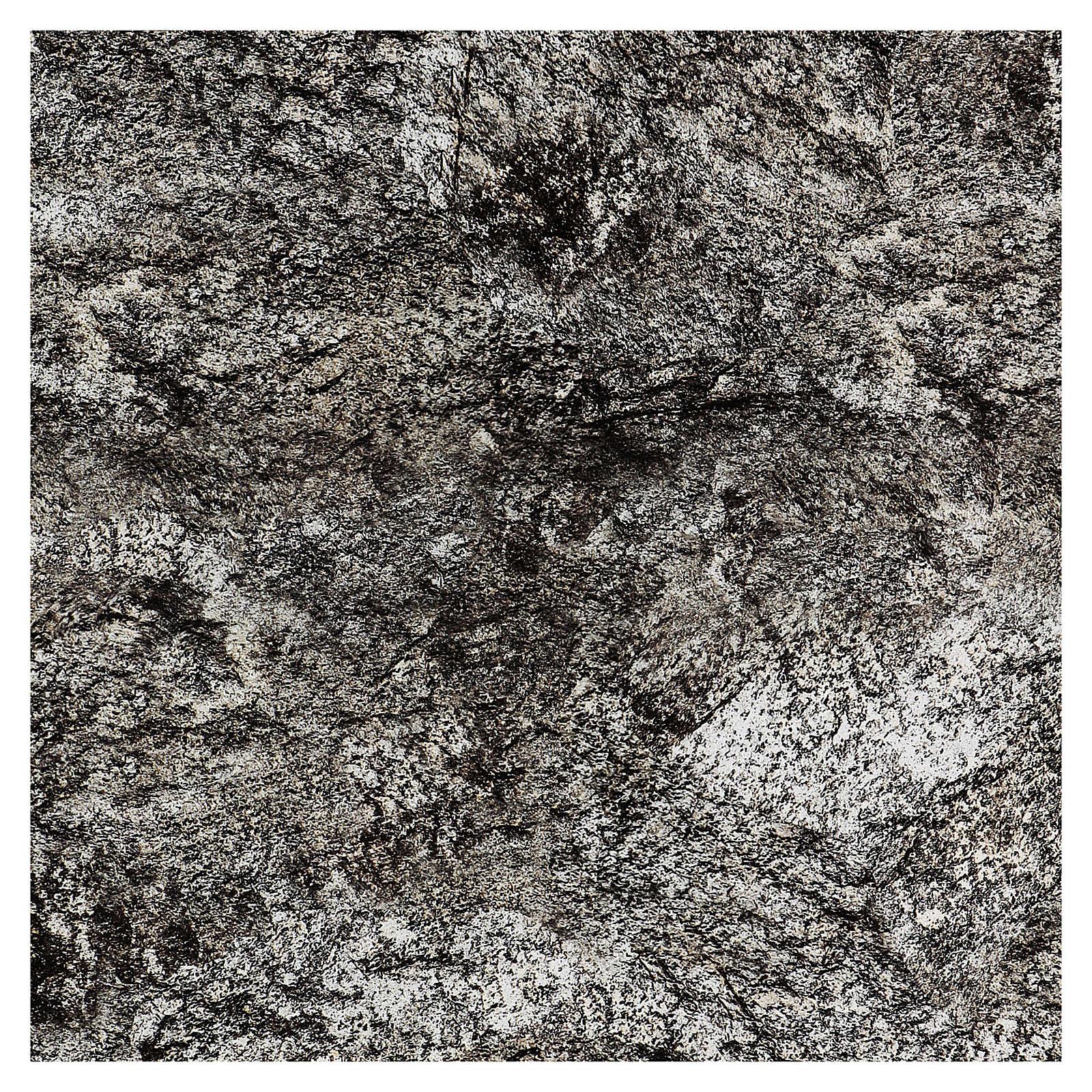 Modellierbares Papier für Krippe Stein-Effekt mit Schnee 60x60cm 4
