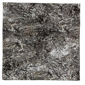 Modellierbares Papier für Krippe Stein-Effekt mit Schnee 60x60cm s1