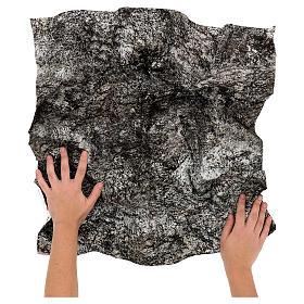 Modellierbares Papier für Krippe Stein-Effekt mit Schnee 60x60cm s2