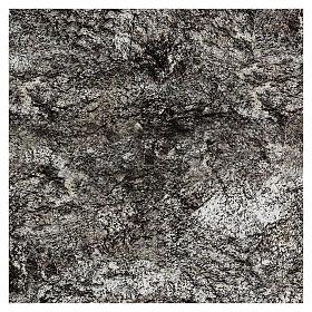 Modellierbares Papier für Krippe Stein-Effekt mit Schnee 60x60cm s3