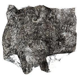 Modellierbares Papier für Krippe Stein-Effekt mit Schnee 60x60cm s4