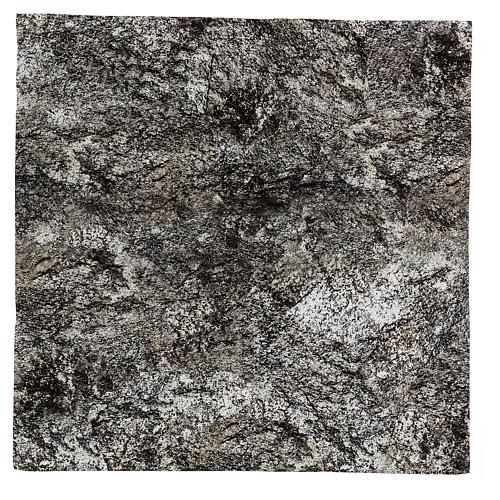 Modellierbares Papier für Krippe Stein-Effekt mit Schnee 60x60cm 1