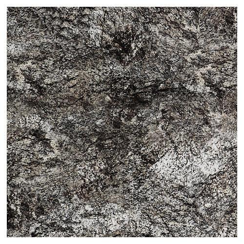 Modellierbares Papier für Krippe Stein-Effekt mit Schnee 60x60cm 3