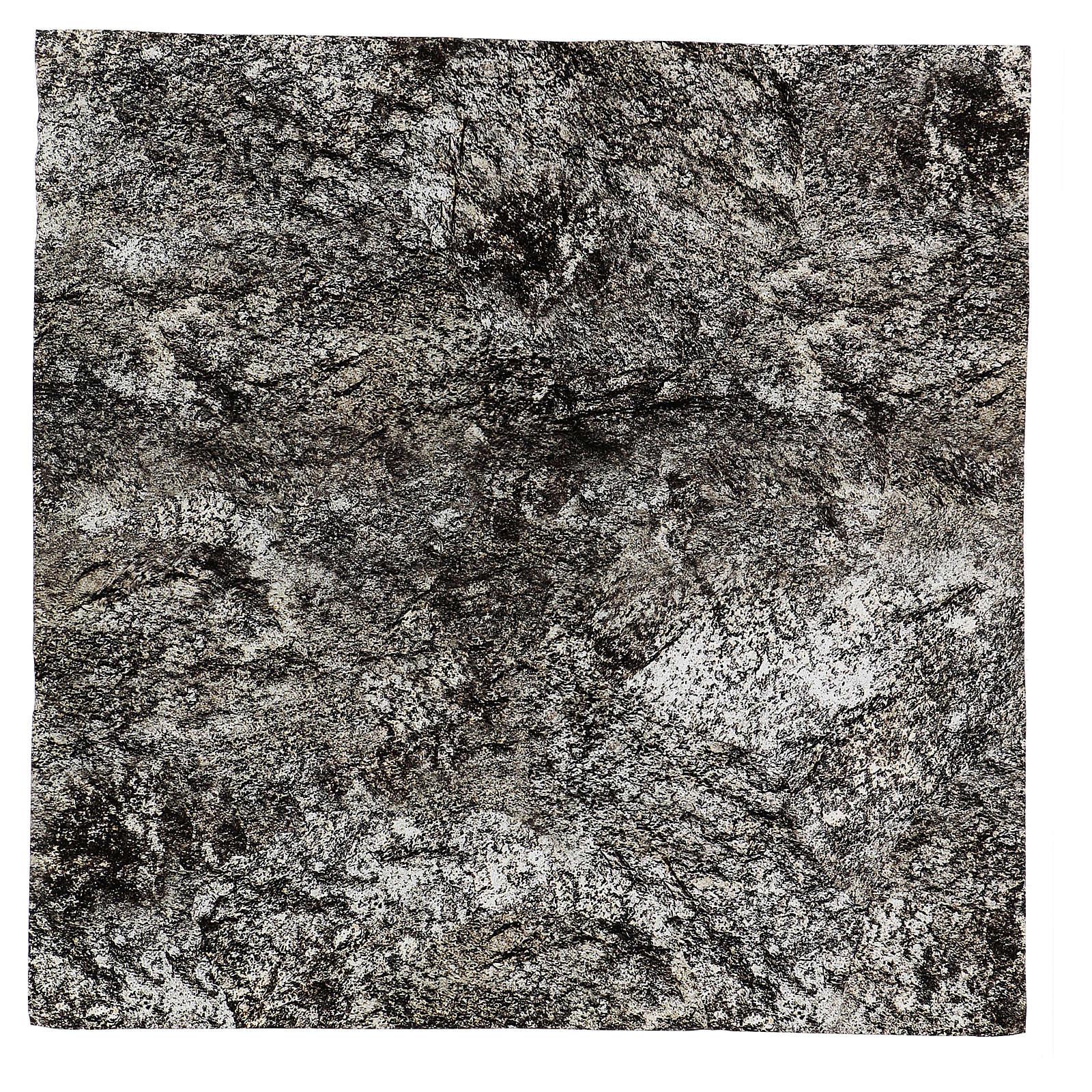 Papier roche enneigée à modeler pour crèche 60x60 cm 4