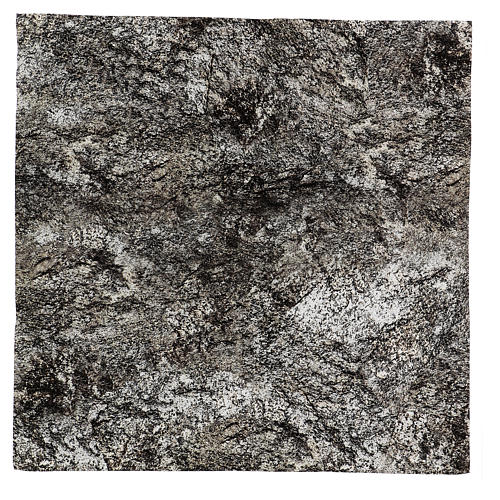 Carta roccia innevata modellabile per presepi 60x60 cm 1