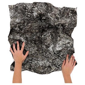 Papel para modelar rocha nevada presépio 60x60 cm s2