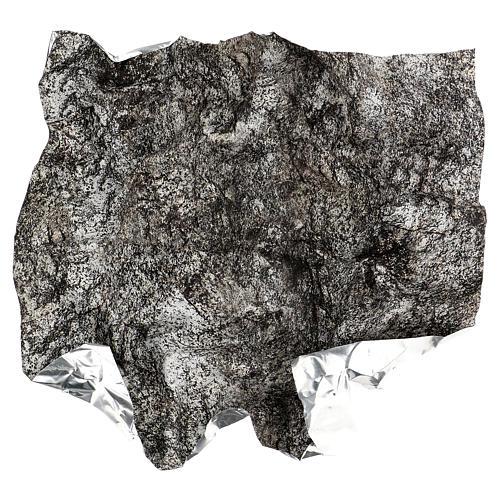 Papel para modelar rocha nevada presépio 60x60 cm 4