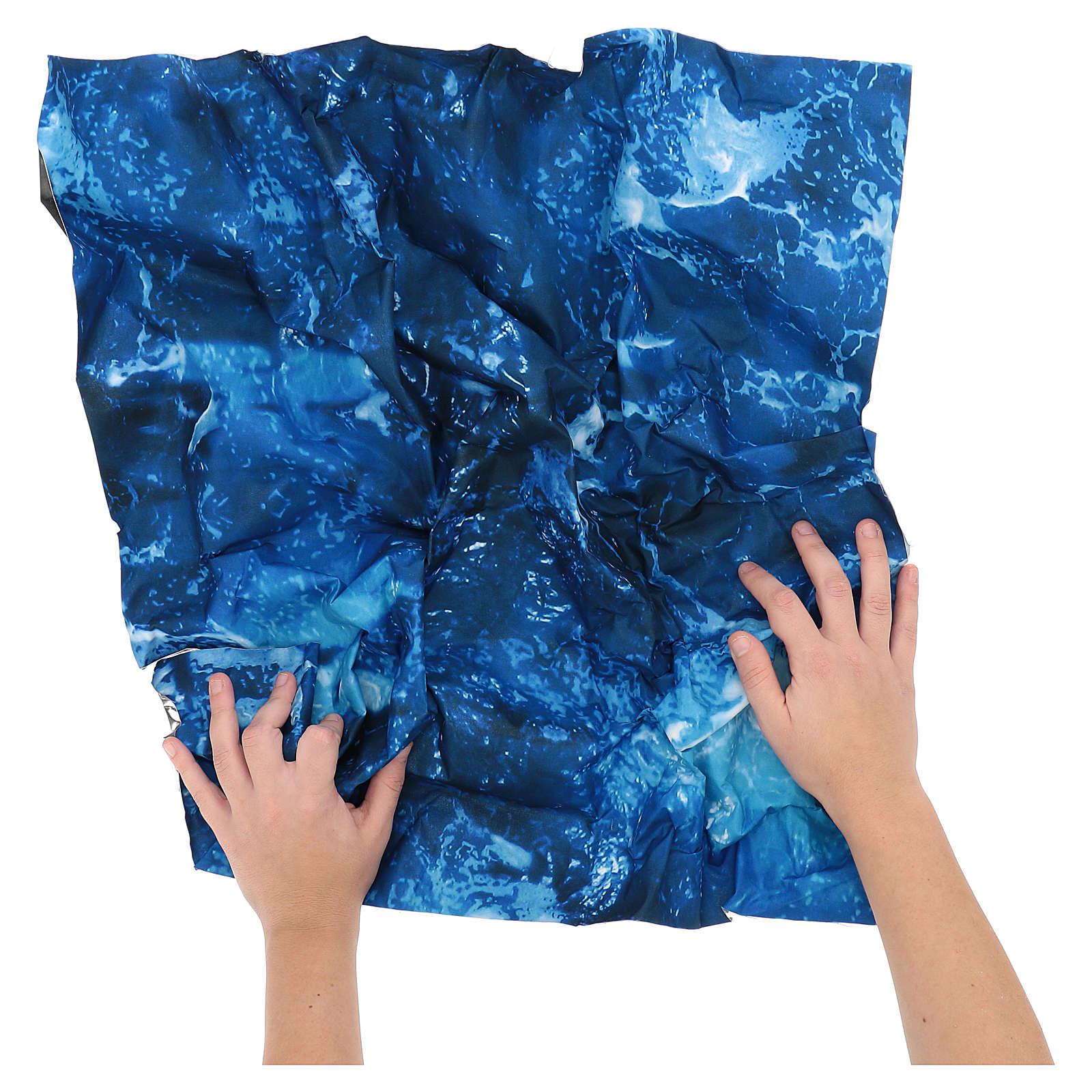 Modellierbares Papier für Krippe Wassereffekt 60x60cm 4