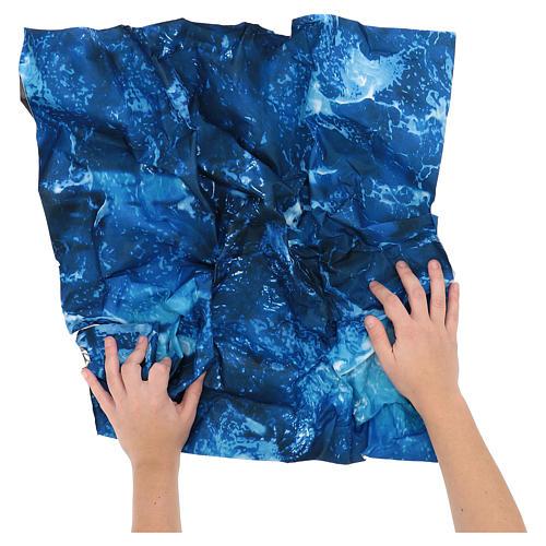 Modellierbares Papier für Krippe Wassereffekt 60x60cm 2
