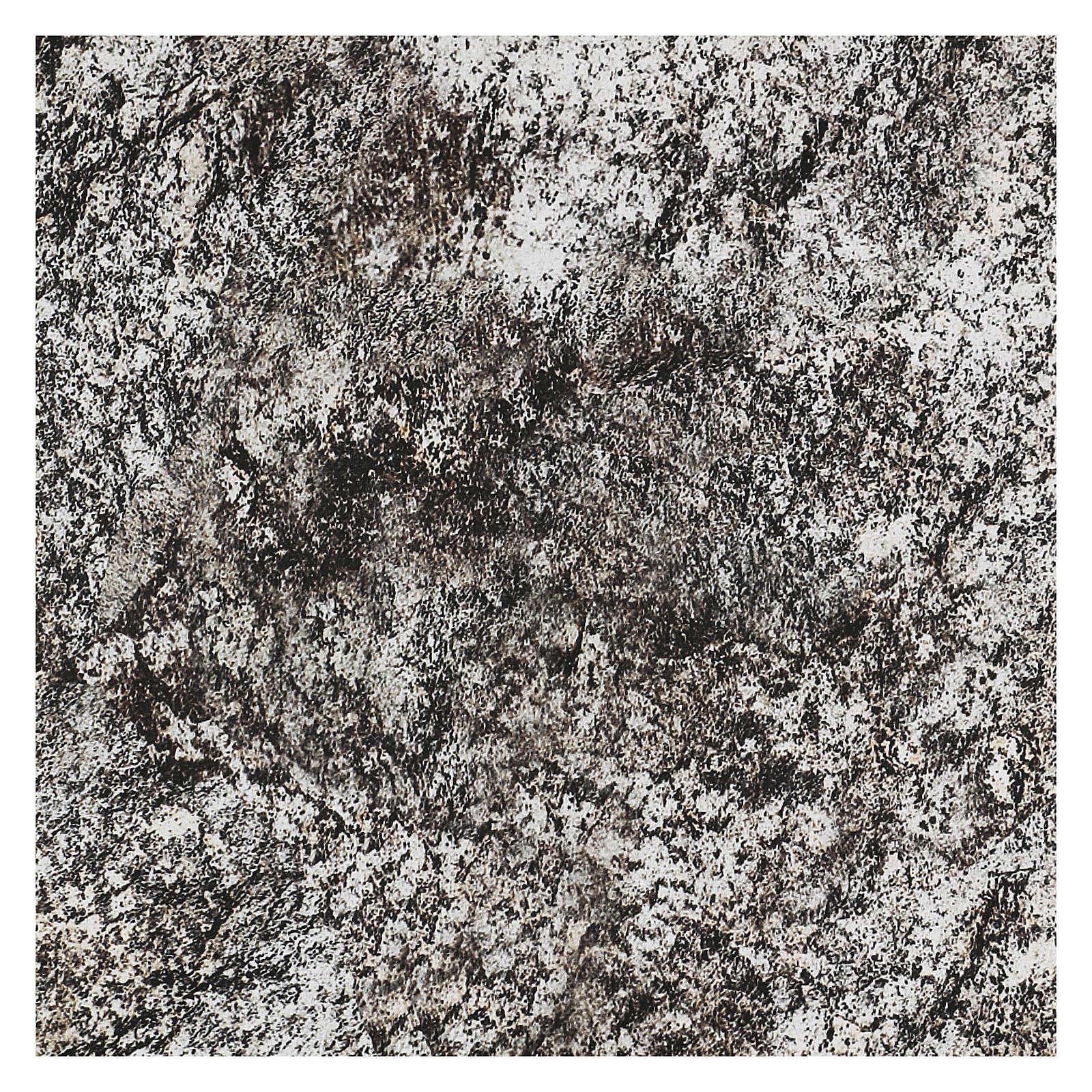 Modellierbares Papier für Krippe Stein-Effekt mit Schnee 60x30cm 4