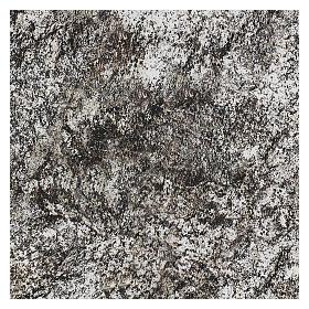 Modellierbares Papier für Krippe Stein-Effekt mit Schnee 60x30cm s3