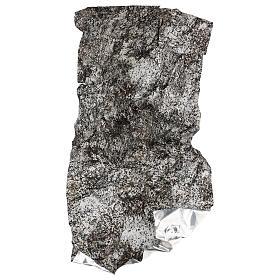 Modellierbares Papier für Krippe Stein-Effekt mit Schnee 60x30cm s4