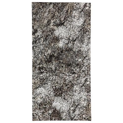 Modellierbares Papier für Krippe Stein-Effekt mit Schnee 60x30cm 1