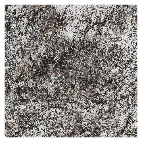 Modellierbares Papier für Krippe Stein-Effekt mit Schnee 60x30cm 3