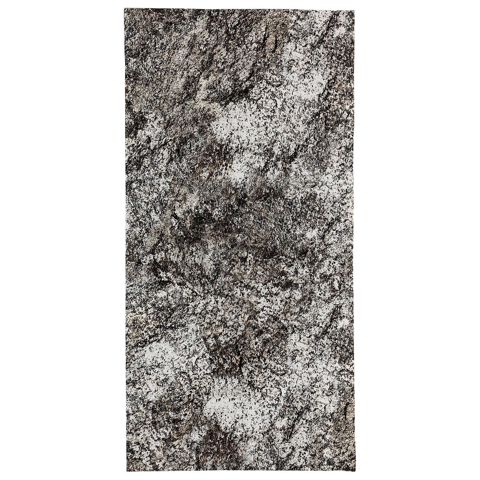 Nativity scene background paper, snowy rock 60x30 cm 4