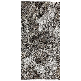 Nativity scene background paper, snowy rock 60x30 cm s1